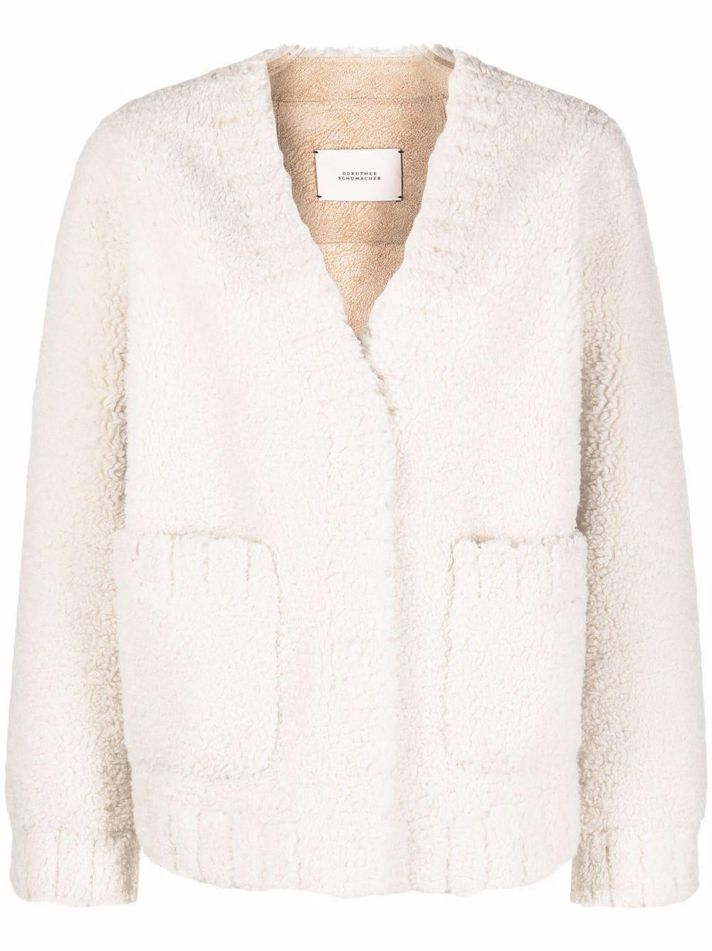 Twist On Shearling Jacket Item # 213-444202