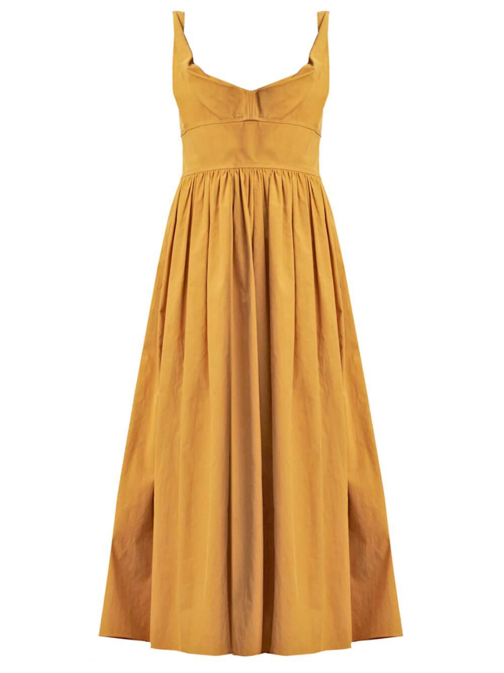 Slub Sateen Dress Item # 621170D907