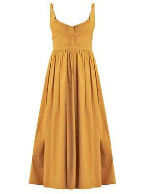 Slub Sateen Dress
