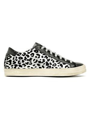 John Leopard and Blue Velvet Sneaker