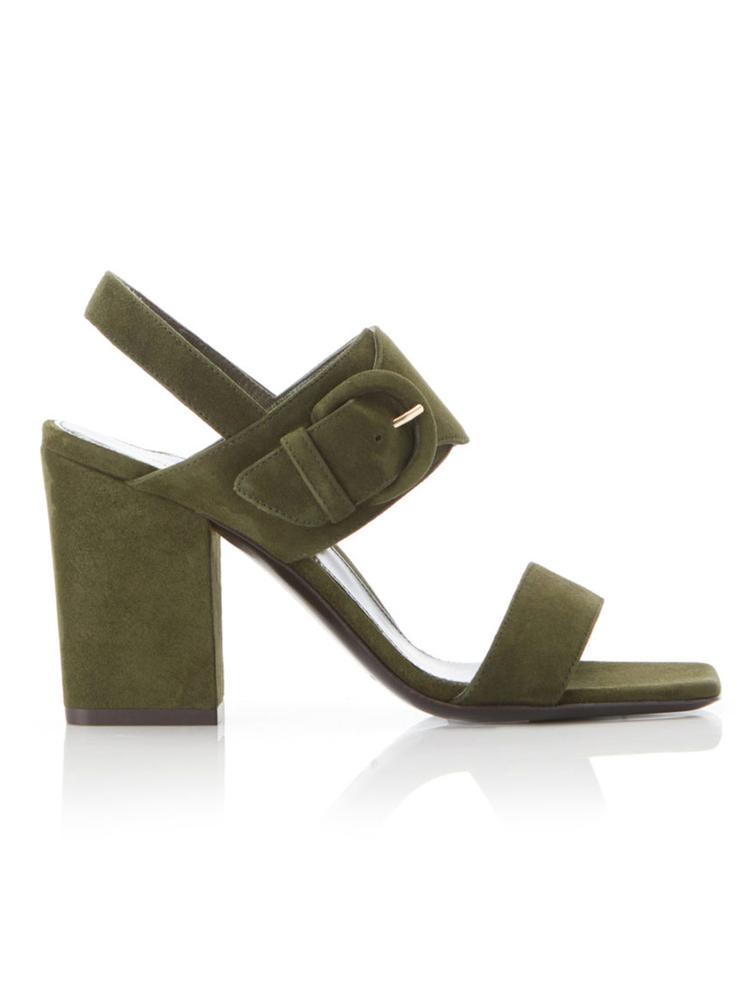 Sarah Suede Block Heel Sandal
