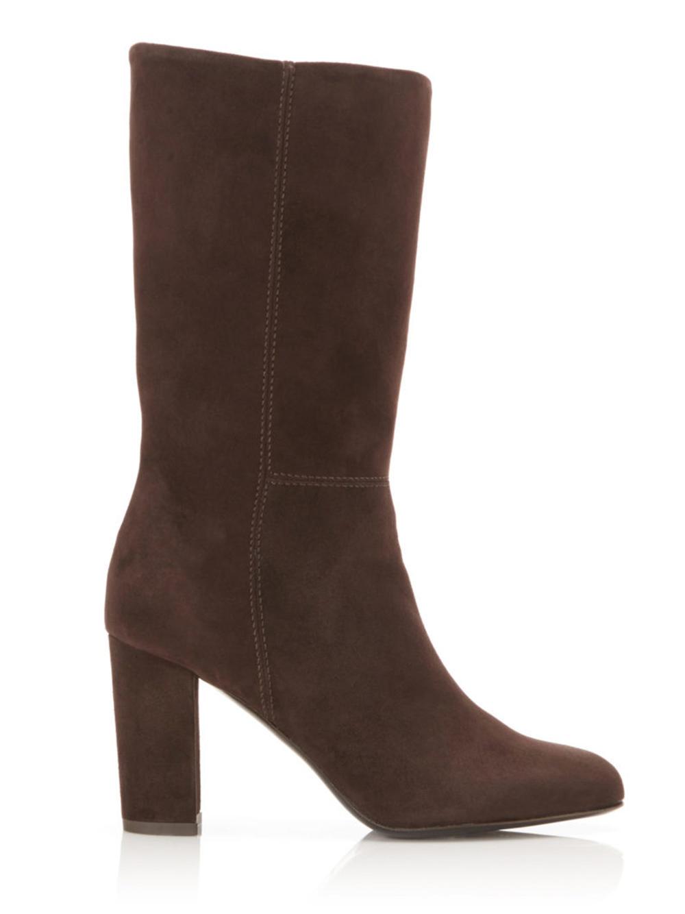 Delila Mid Calf Suede Boot