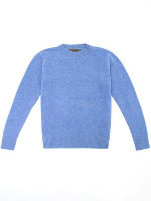 Simple Crew Neck Cashmere Sweater