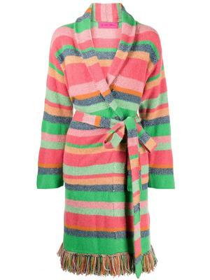Pace Stripe Fringe Coat