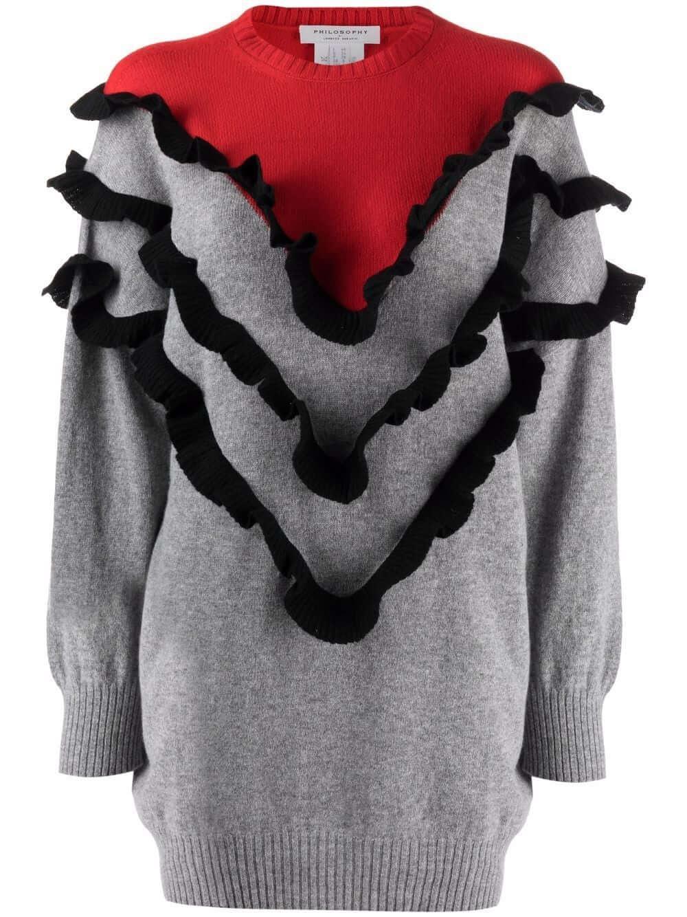 Ruffle Detail Sweater Item # 0485-5702