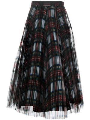 Tartan Tulle Midi Skirt