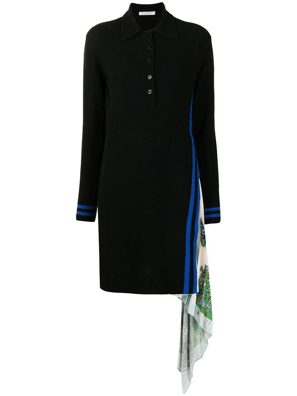 Pleated Panel Shirt Dress Item # 0483-5703