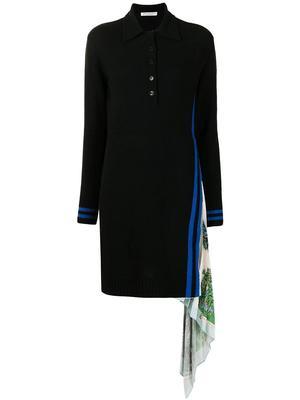 Pleated Panel Shirt Dress