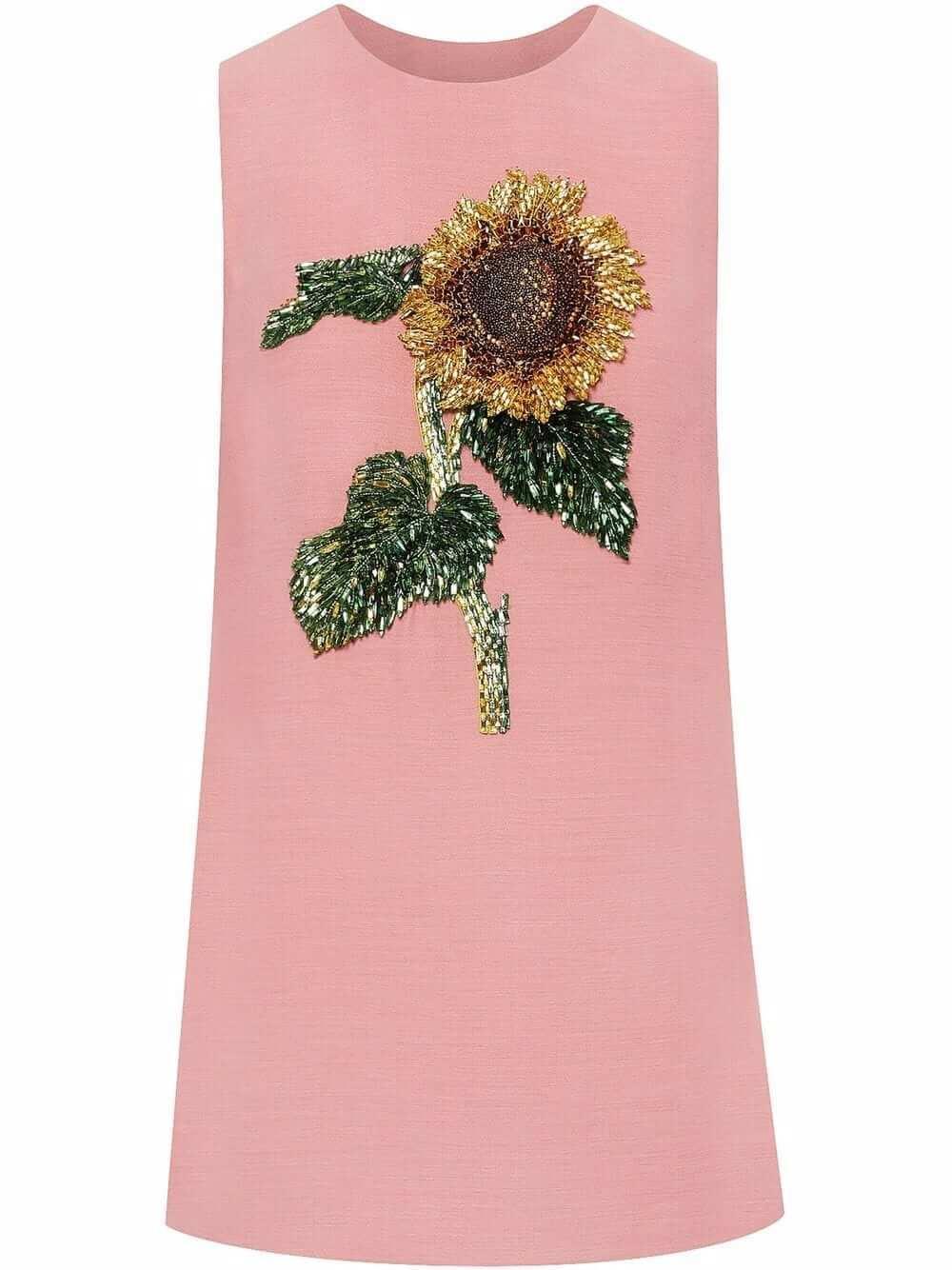Sunflower Embroidered Shift Dress Item # 21FE249DSW
