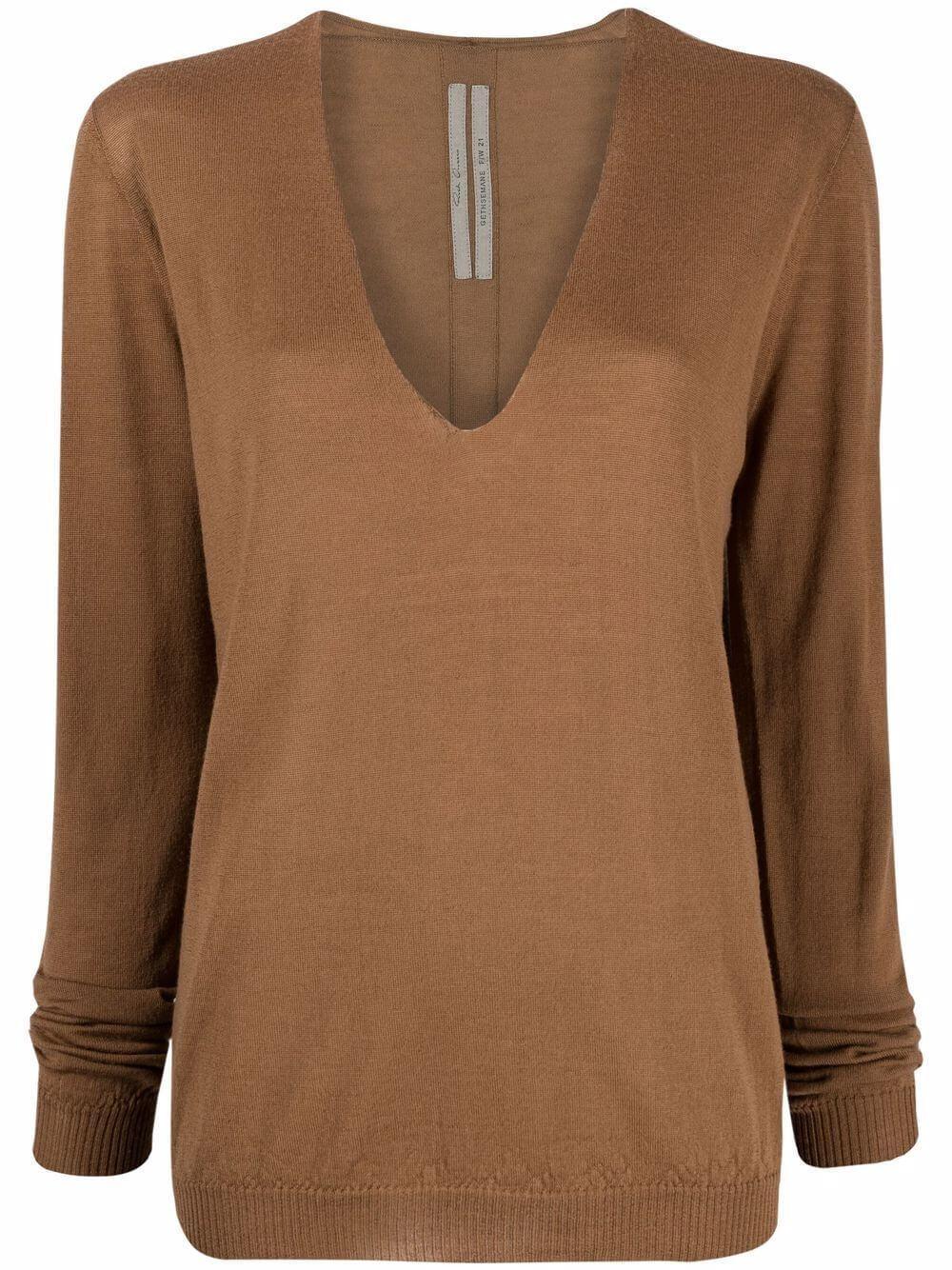 Merino Wool V- Neck Sweater Item # RP02A7623