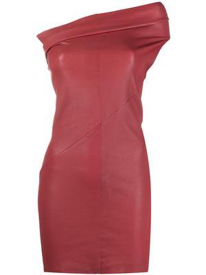 Athena Stretch Leather Mini Dress