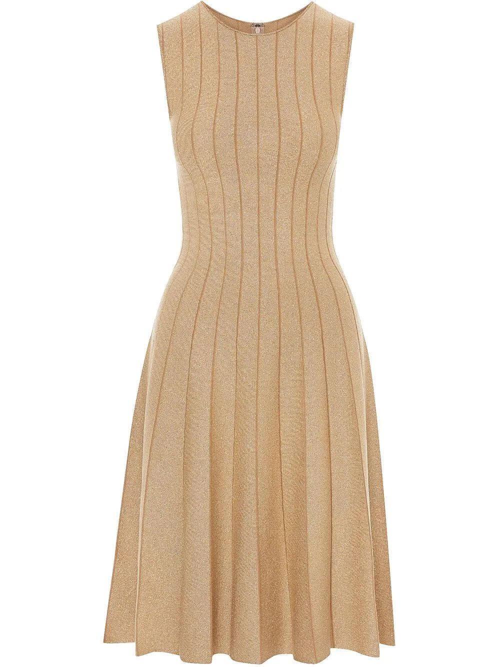 Pleated Lurex Dress Item # 21FN112LUR