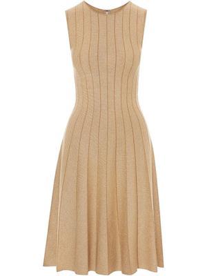 Pleated Lurex Dress