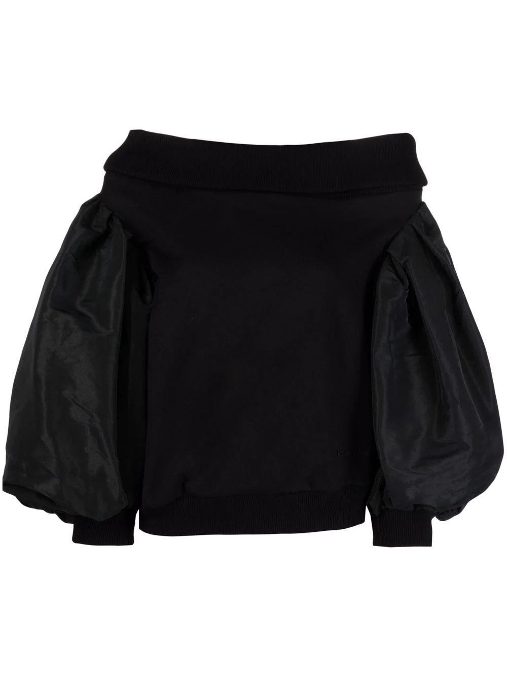 Off The Shoulder Puffy Sweatshirt Item # 672604QLABG