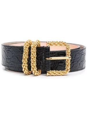 Katina Croco Embossed Leather Belt