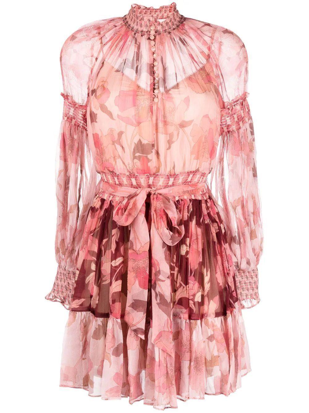 Concert Spliced Lantern Mini Dress Item # 2049DCON