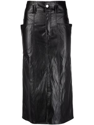 Toriani Faux Leather Skirt
