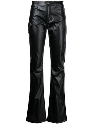 Laquered Bootcut Jeans