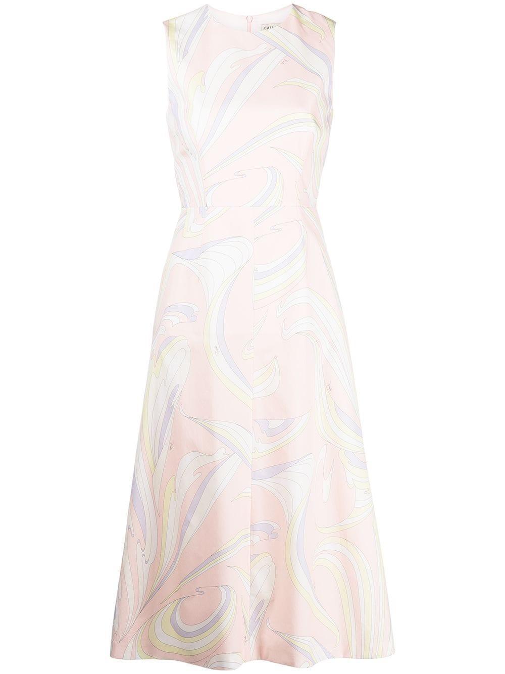 Printed Midi Dress Item # 1RRH12-1R743