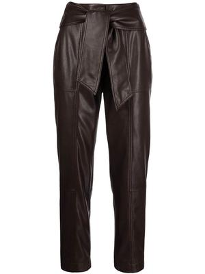 Tessa Vegan Leather Tie Waist Pants