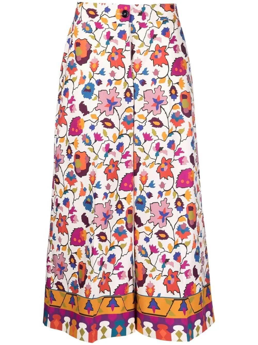 Floral Coulotte Pant Item # TRO0027-COT001
