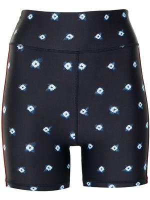 Shibori Spot Mini Spin Shorts