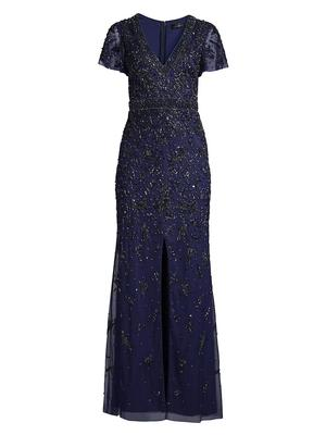 Fully Beaded Long Gown
