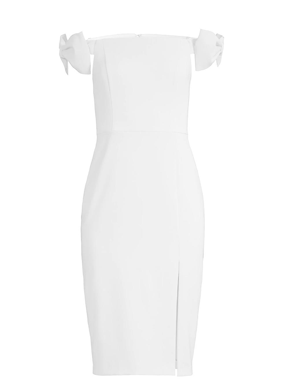 Bow Shoulder Detail Sheath Dress Item # MN1E206372