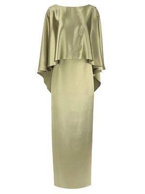 Novara Gown With Cape Overlay