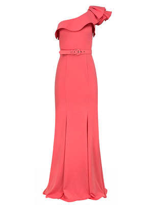 One Shoulder Belted Gown