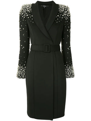 Pearl Sleeve Belted Dress
