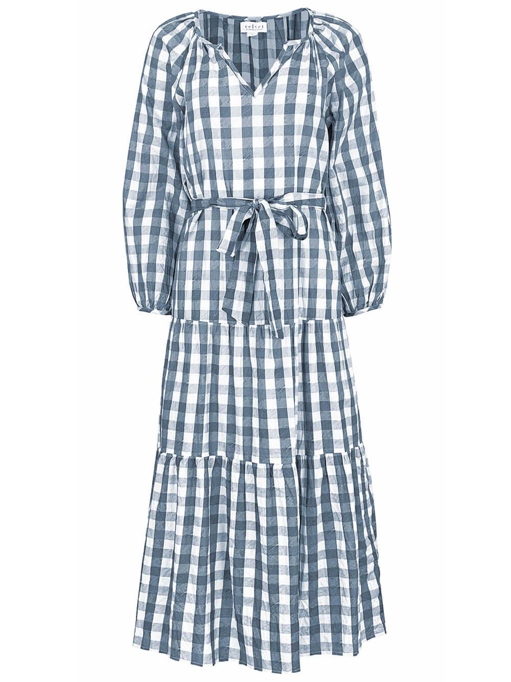 Trish Gingham Midi Dress Item # TRISH05