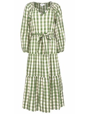 Trish Gingham Midi Dress