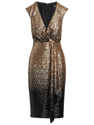 Ombre Sequin Cocktail Dress