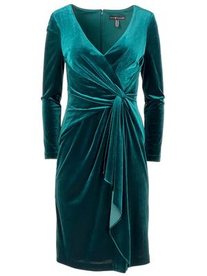 Velvet Twist Front Dress