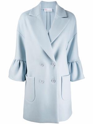 Short Coat With Peplum Sleeves