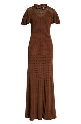 Ladder Stitch Maxi Dress