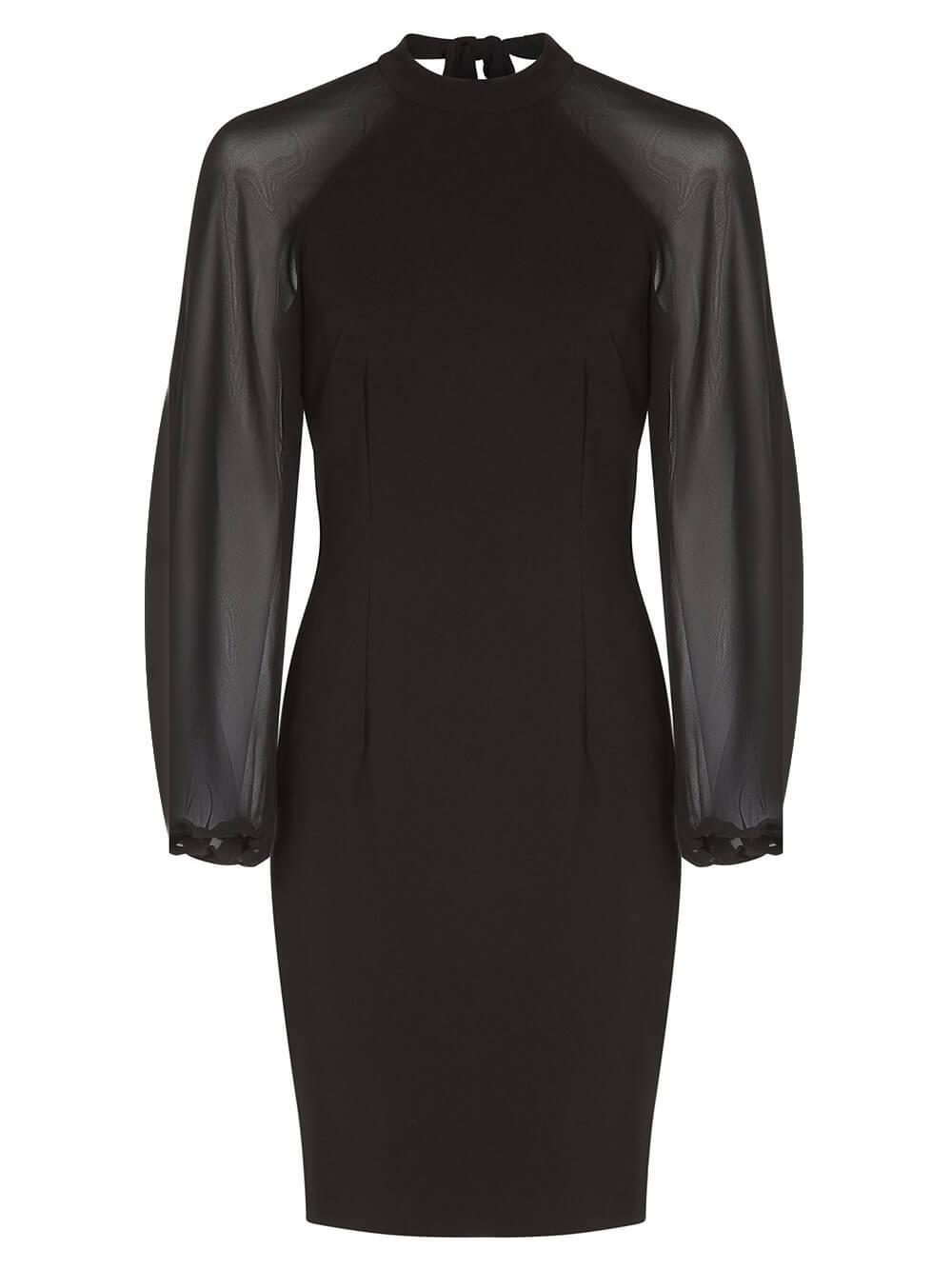 Chiffon Sleeve Sheath Dress Item # MN1E206779