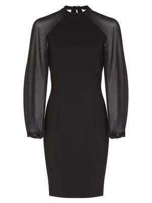 Chiffon Sleeve Sheath Dress