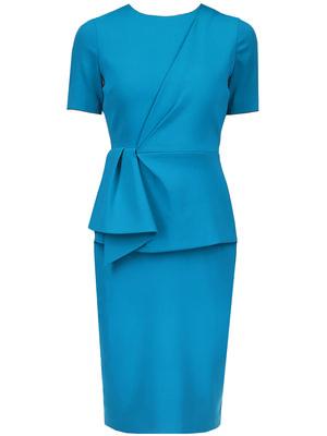 Drape Front Peplum Day Dress