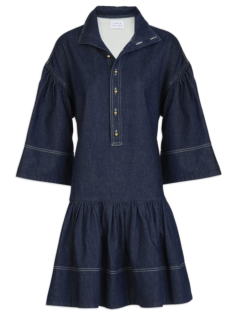 Kenley Henley Denim Dress Item # F21D241211