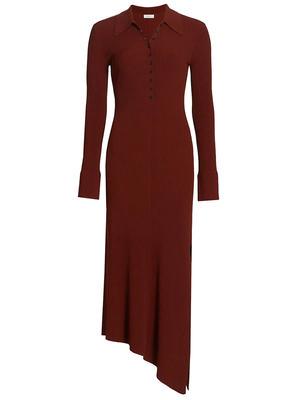 Lance Asymmetrical Hem Knit Dress