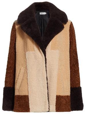 Stefan Patchwork Faux Fur Coat