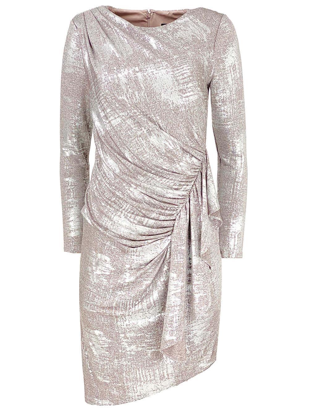 Draped Foil Dress Item # MN1E206757
