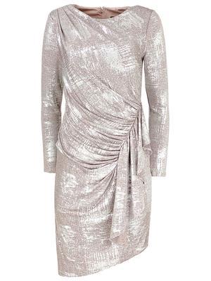 Draped Foil Dress