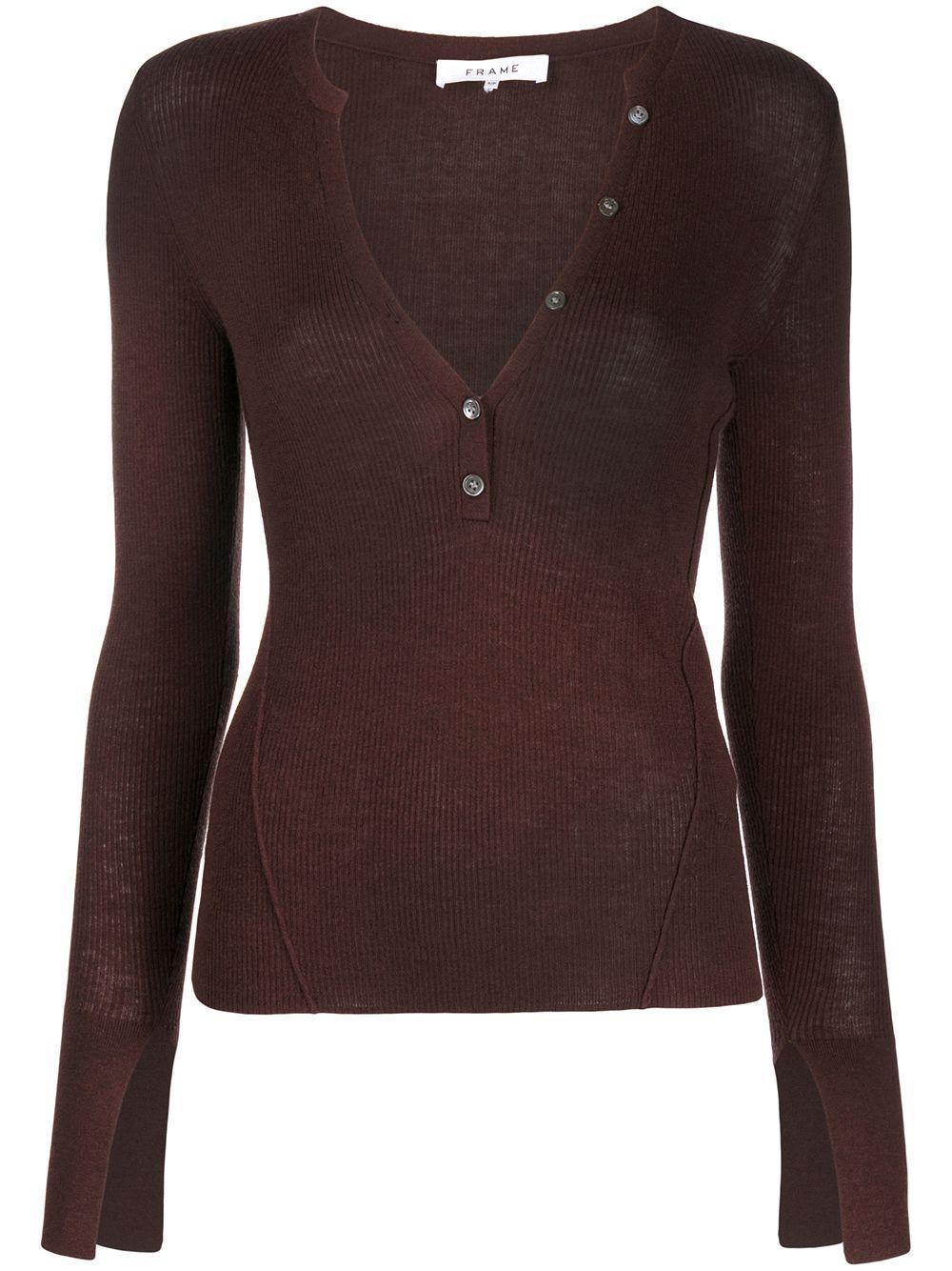 Rib Henley Sweater Item # LWSW1230