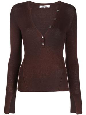 Rib Henley Sweater