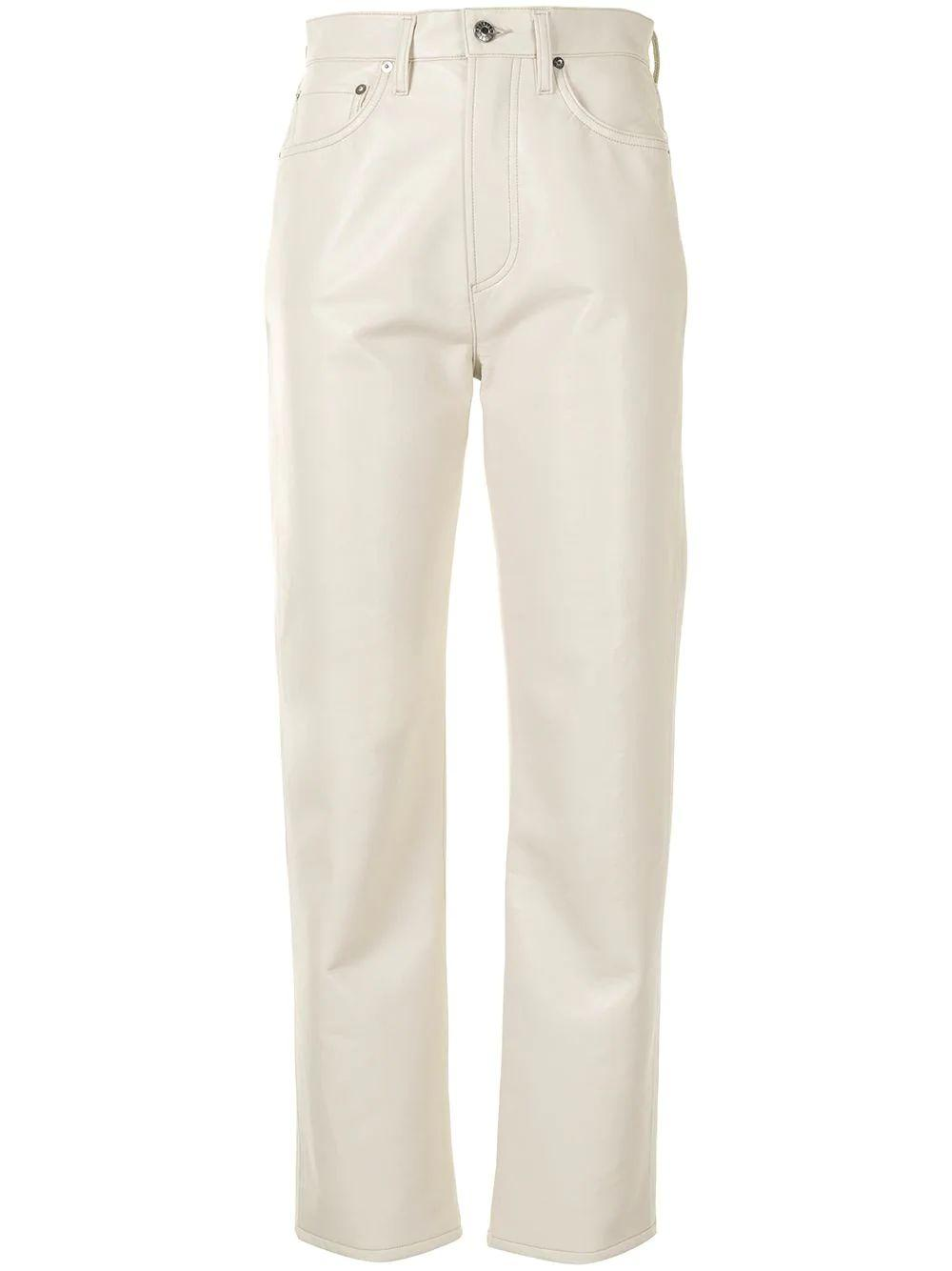 Recycled Leather 90s Pinchwaist Pant Item # A164-1285-F21
