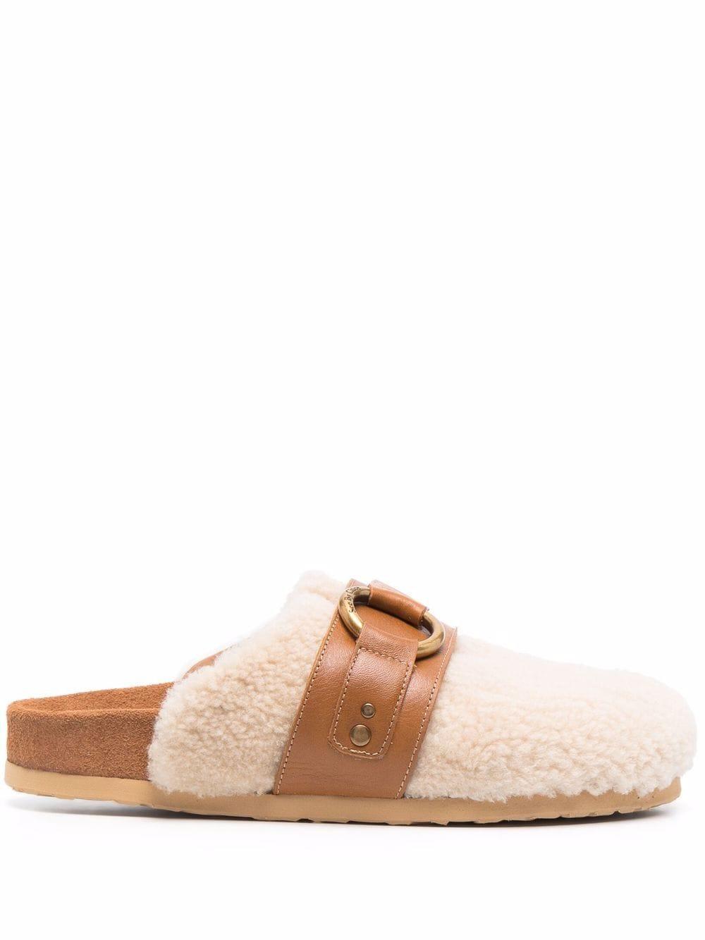 Gema Shearling Flat Loafer Item # SB37181A