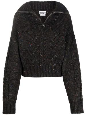 Cable Knit 1/4 Zip Pullover